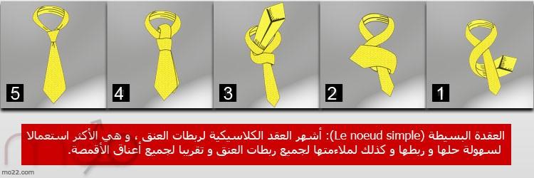ربطة العنق - العقدة البسيطة