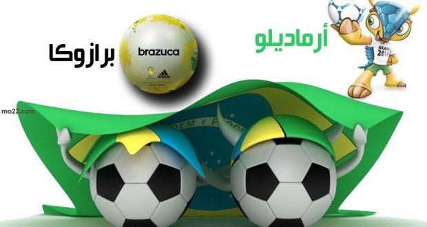 أرماديلو أسم التميمة و برازوكا أسم الكرة في كأس العالم 2014