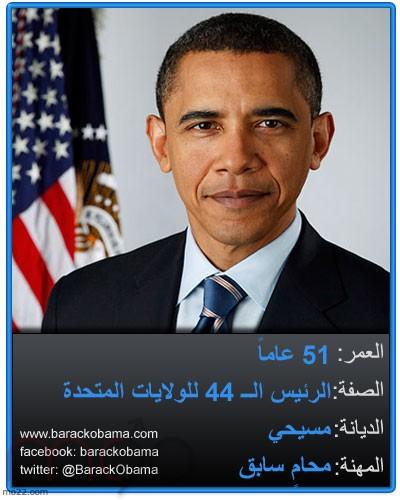 انتخابات الرئاسة الأمريكية 2012 المرشح باراك حسين أوباما