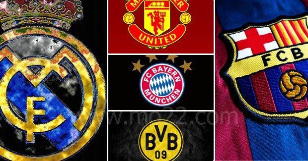 أقوى خمس فرق عالمية لكرة القدم