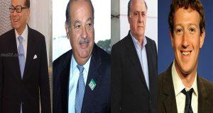 أربع شخصيات مميزة من لائحة أثرى أثرياء العالم