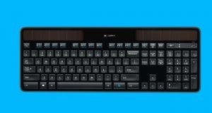 لوحة مفاتيح لاسلكية تعمل بالطاقة الشمسية